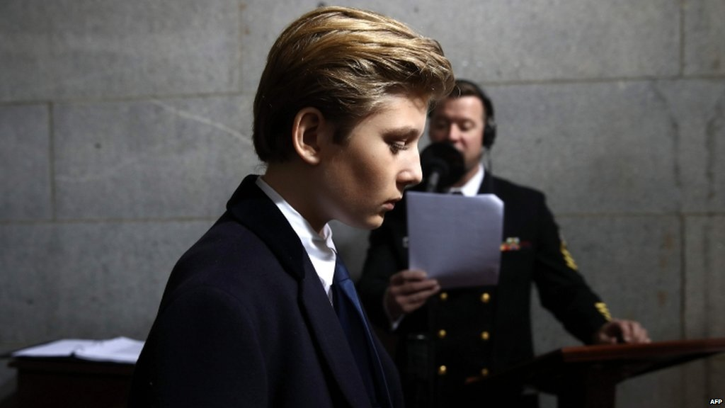 Social media jumps to defence of @POTUS's 10-year-old son