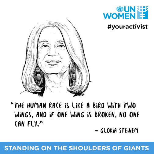 .@GloriaSteinem's #genderequality metaphor is all the #MondayMotivation you need!