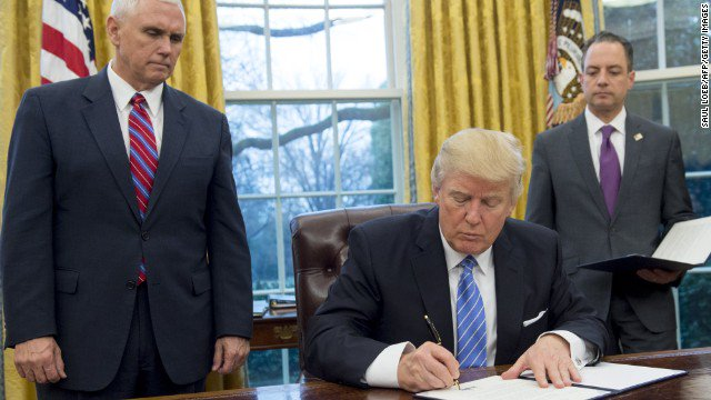 President Trump signs order to bar international NGOs that provide abortion services from receiving federal aid. https://t.co/mgPANIFeqU