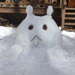 昨日作ったプレアデス星人結構な大きさw耳がなぁ…もうちょい頑張りたかった😅#プレアデス #プレアデス星人 #雪だるま