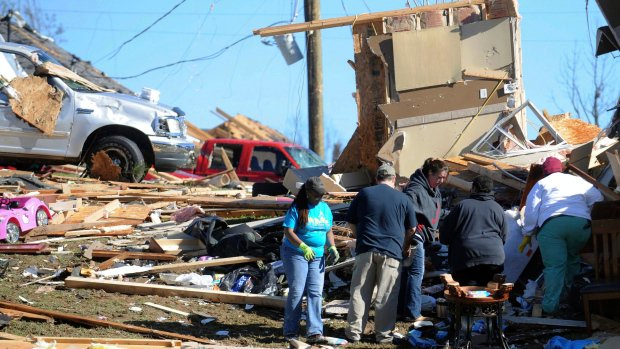 UPDATED: 19 die amid apparent winter tornadoes, other storms in U.S. South