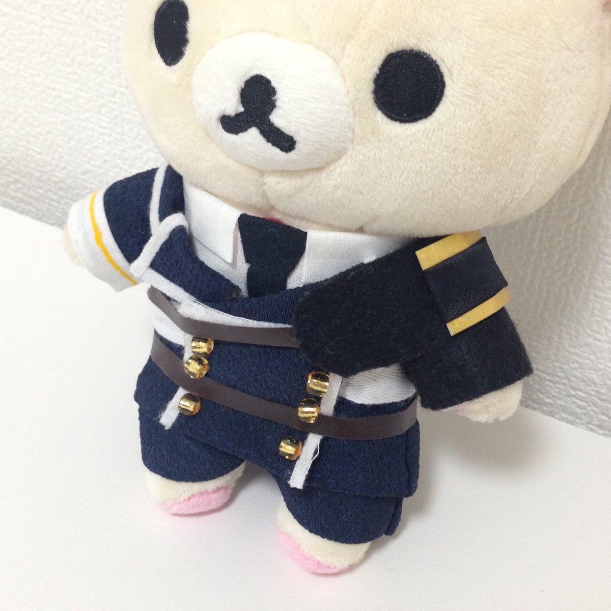 前田藤四郎のコスチュームの装飾変えてハーフパンツ履かせてみたんだけど…厚藤四郎なコリラックマに見えるかなぁ?#刀剣乱舞