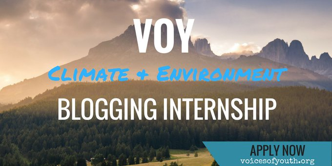 #Exciting! Applications are now open for the @VoicesofYouth #blogging internship: https://t.co/mEbQfvBZr5