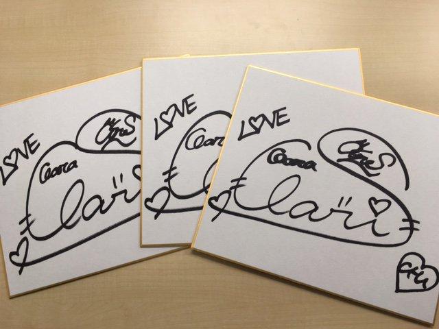 \みんな応募してねっ(๑•̀ㅂ•́)و✧/ #ClariS サイン入り色紙を3名様にプレゼント☆★ https://t.co/ZJh7zvhcMK  @livedoornewsをフォロー&このツイートをRTするだけで応募完了です!