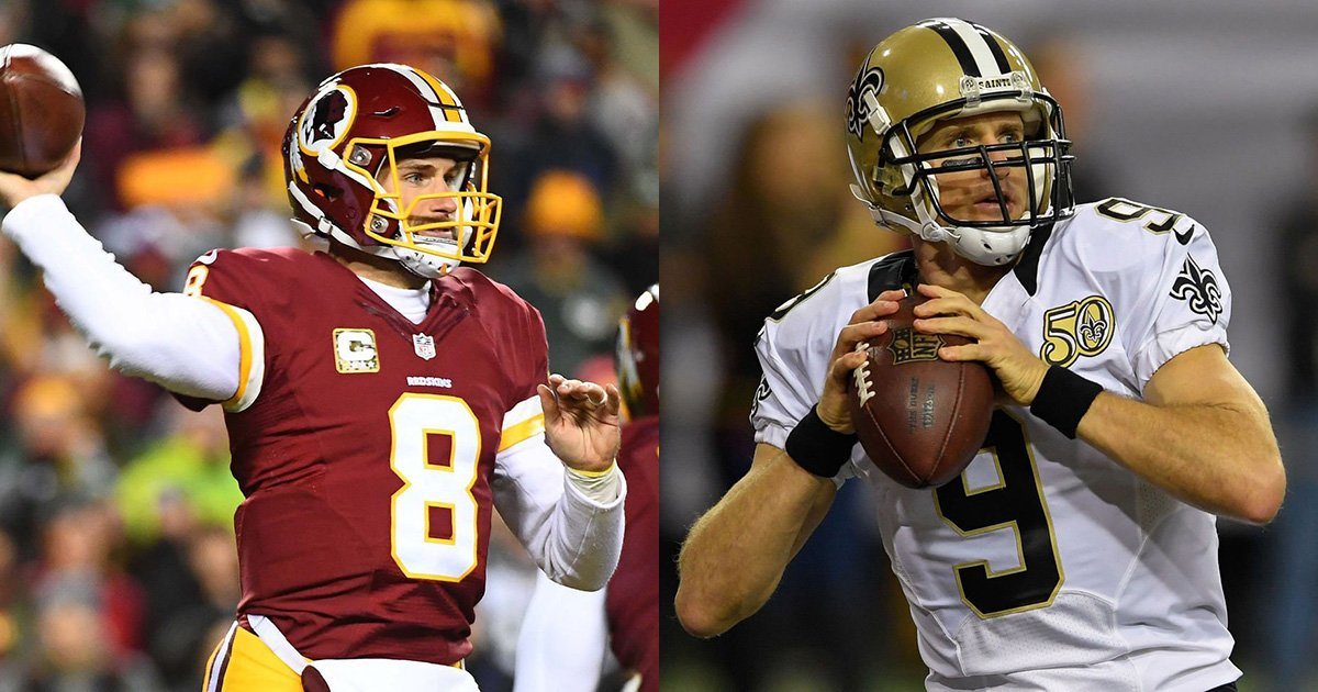 Image result for drew brees kirk cousins