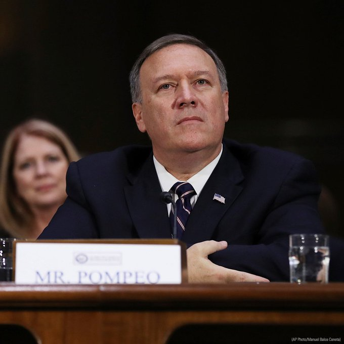 Senate confirms @RepMikePompeo as CIA Director.