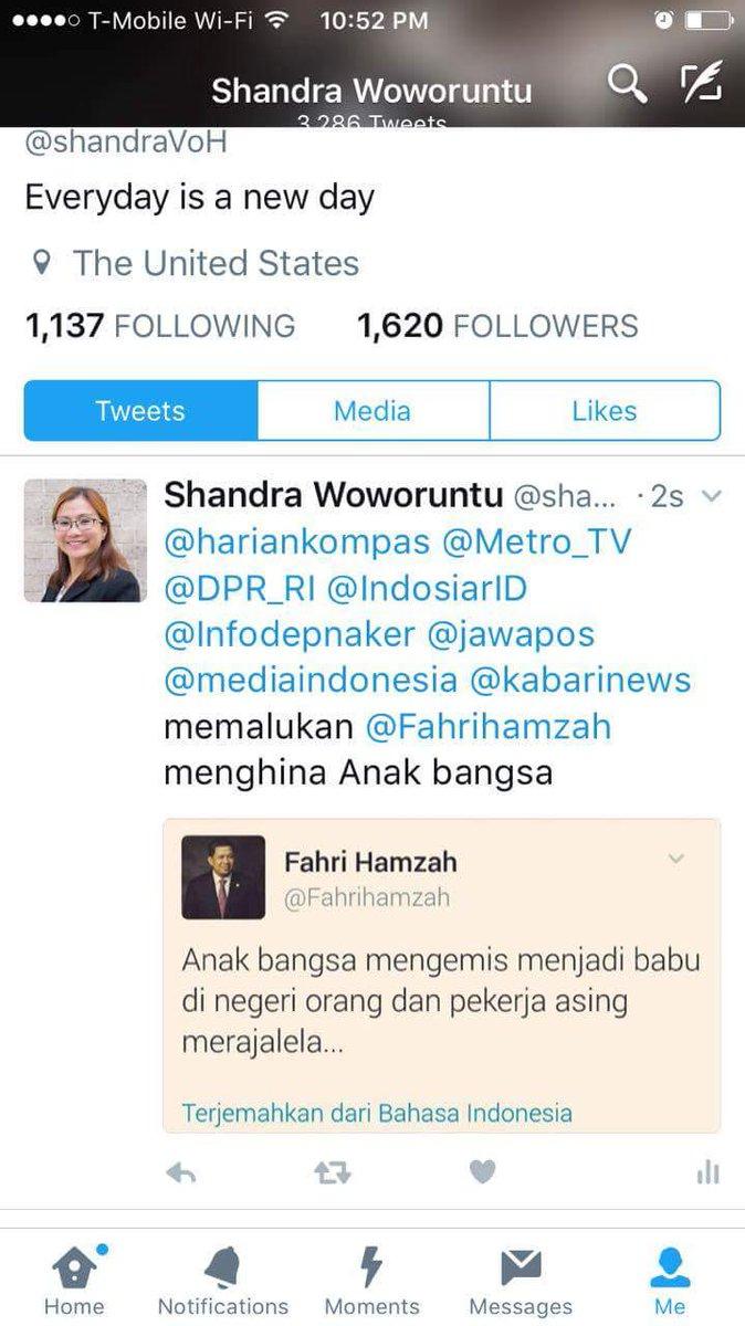 RT @anishidayah: Respon @shandraVoH terhadap tweet @Fahrihamzah https://t.co/KIidHNhML2