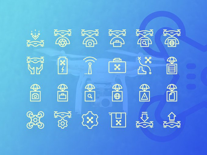 A great freebie from the new Native Icon Set by flatroundicons: Drone Icons