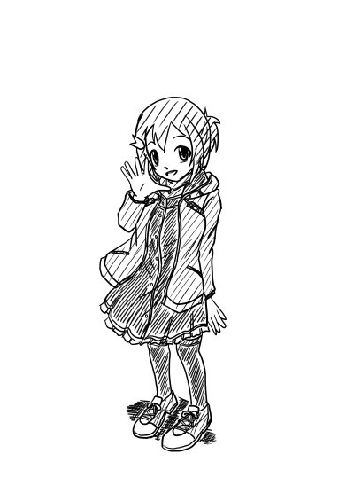 ラフ描き私服友奈ちゃん。まさかフリル付きスカートとは…!! #yuyuyu
