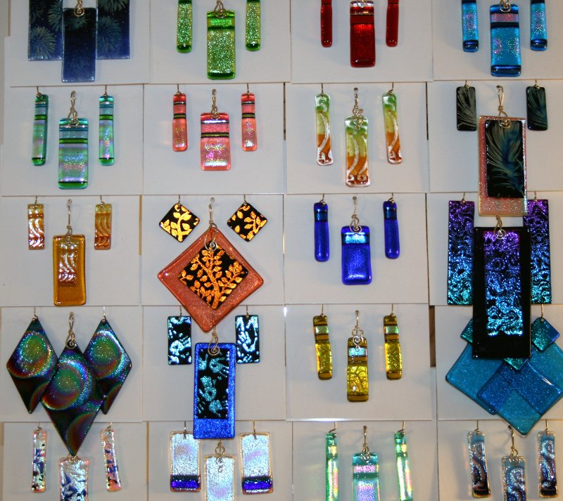 SC Artisans: The Earring Lady Creates Colorful Glass Jewelry