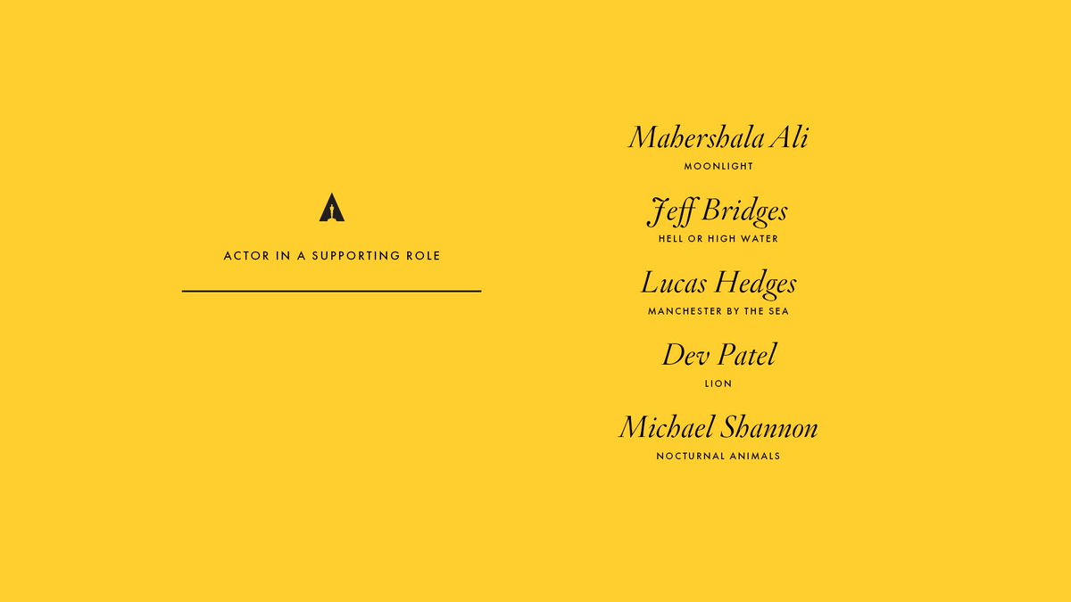 Congrats to our Supporting Actor nominees! #Oscars #OscarNoms