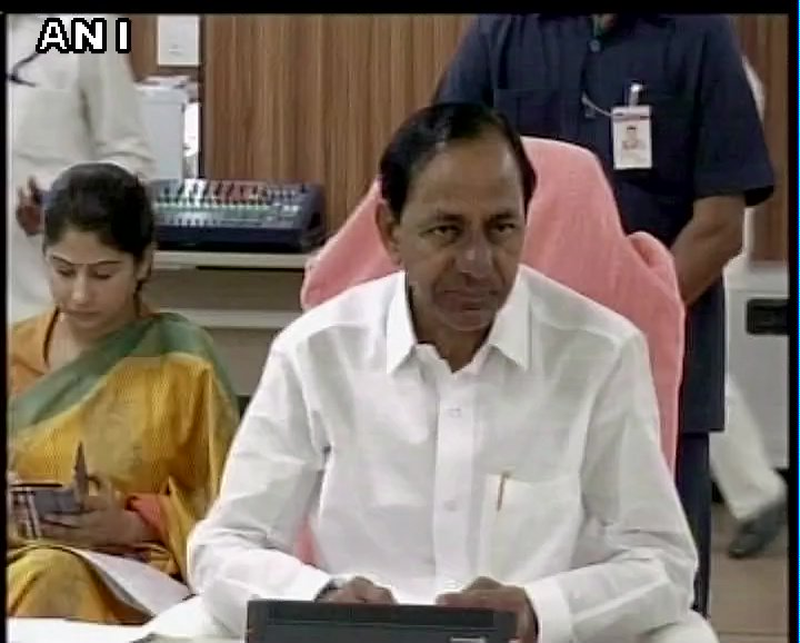 Hyderabad: Telangana CM KC Rao chairs review meeting of Mission Bhagiratha for village-level contractors in the state