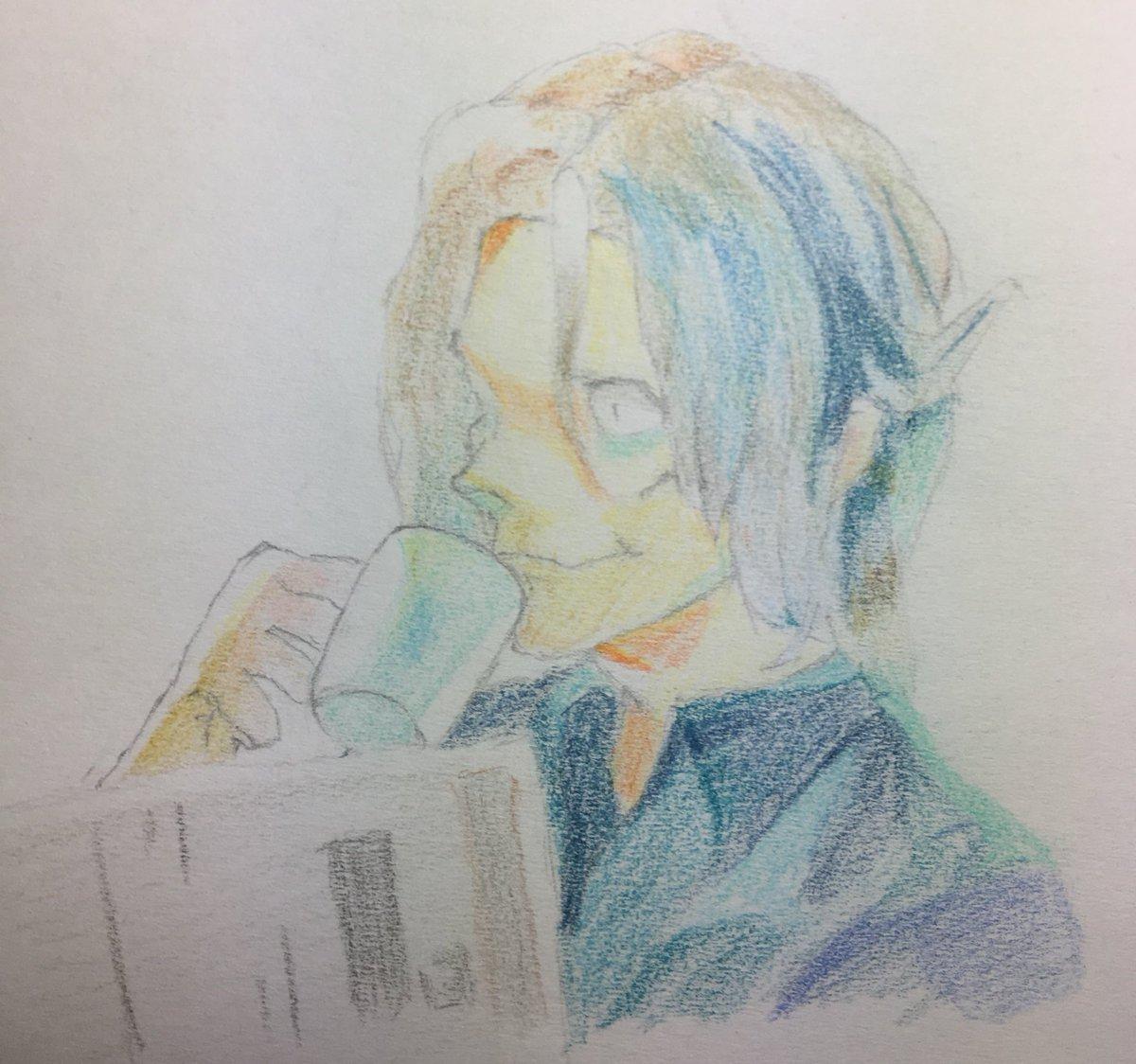 遅くなった!真戸さんお誕生日おめでとうございますっ!!♪(๑ᴖ◡ᴖ๑)♪初色鉛筆!超初心者です。時間があれば続き描くかも