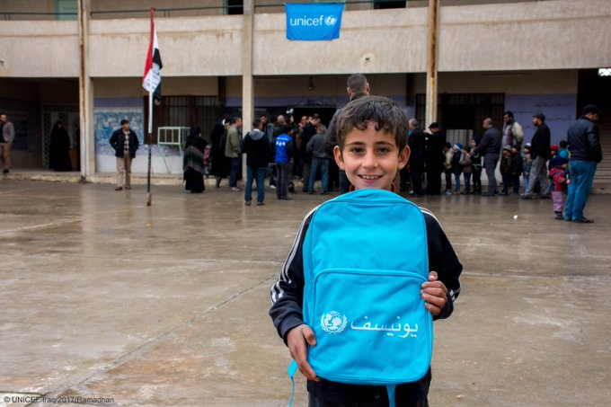 #Iraq: 16,000 children return to school in East #Mosul with our support as violence subsides. https://t.co/p9cd5FNzYS