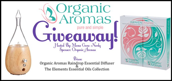 Organic Aromas Giveaway! ~1/24-2/1 ⋆ Moms Gone Nerdy