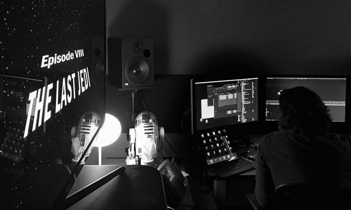 'Star Wars: The Last Jedi' director shares first look from the editing bay