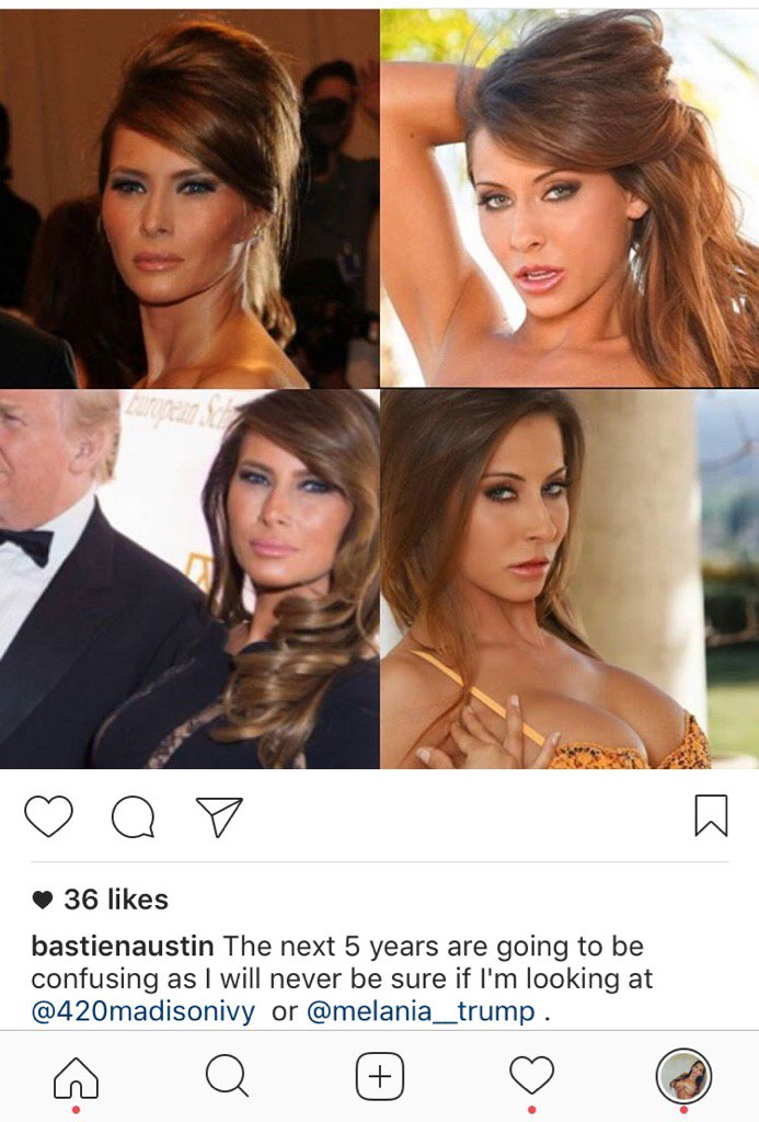 So I've been seeing a million of these a day, hope the First Lady likes anal 😂😜✊️ o7pbz