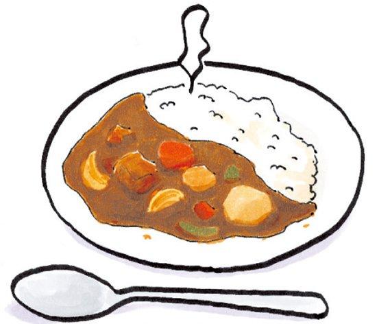 おはようございます🌞カレーが食べたくなる絵をどうぞ。(16巻no.14)#あたしンち #カレー #あたしンちだから飯テロ
