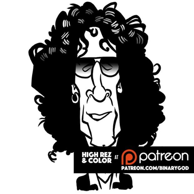 Jan 12: Happy birthday Howard Stern! Color and goodies at  Pop art at