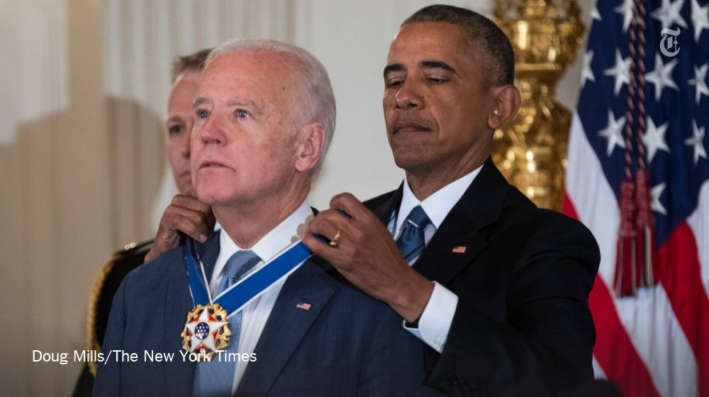 President Obama surprised Joe Biden with the Presidential Medal of Freedom