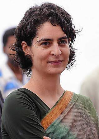 "Many Many Happy Returns of the day.""Happy Birthday\"" to Priyanka Gandhi."
