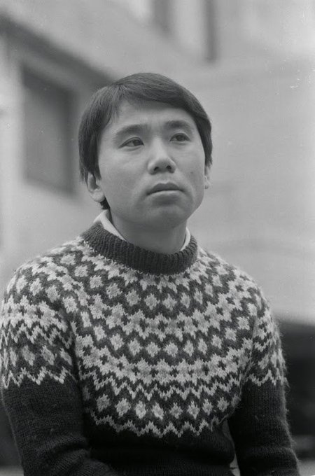Happy birthday to Haruki Murakami a man I admire for his novels, his short stories, and his taste in sweaters.