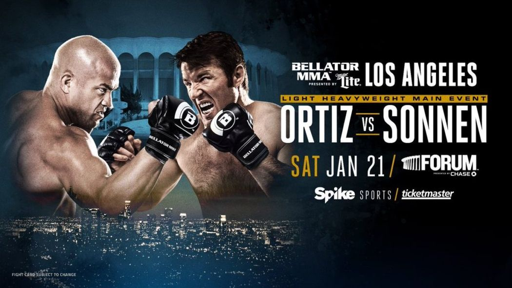 Countdown to #OrtizVsSonnen airs Jan. 13, 2017 at 11:15 pm ET/PT on @Spike! @BellatorMMA https://t.co/7hoNfYsn4c https://t.co/H6PijH0nWM
