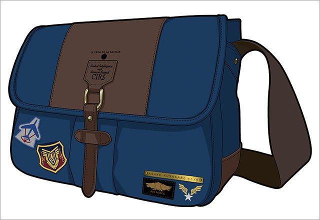 【ご紹介】グリザイアの楽園 日下部麻子 デザインワッペンショルダーバッグ 麻子イメージのカッコイイショルダーバッグです♪