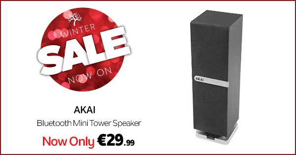 Getting out this weekend? Bring the portable Akai Bluetooth Speaker with you! https://t.co/68D0O4MupP #WinterSale https://t.co/ZUwdC17mRs