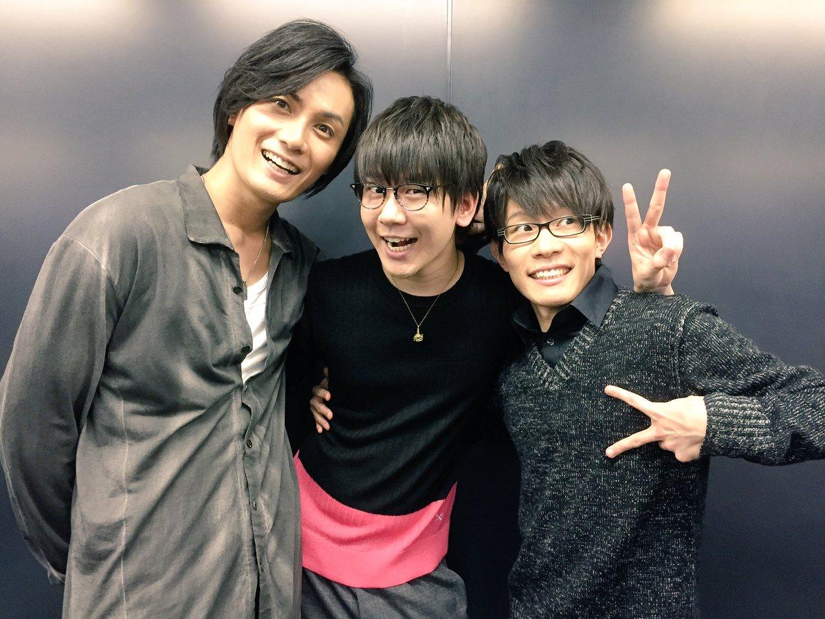 ニコ生特番B-PROJECT『ガンダーラBB+』終了〜っ!お楽しみ頂けましたか?終了後にTHRIVEの3人で♪そして、先