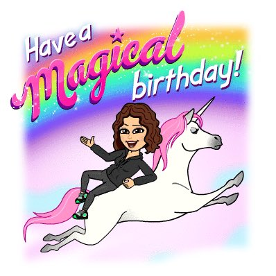 Happy Birthday to my fav weather unicorn!!!! girl!!!!!!!! Have a Magical day girlie