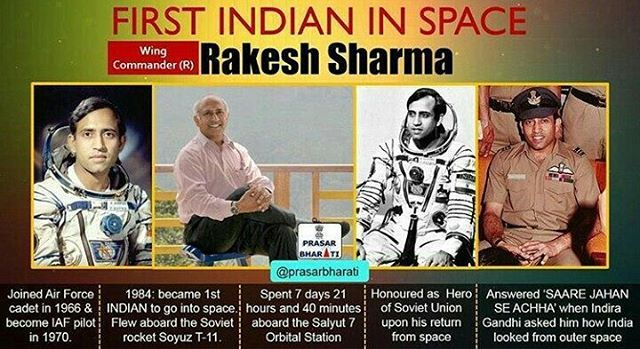 Happy Birthday Rakesh Sharma !! The First Indian to travel in  turns