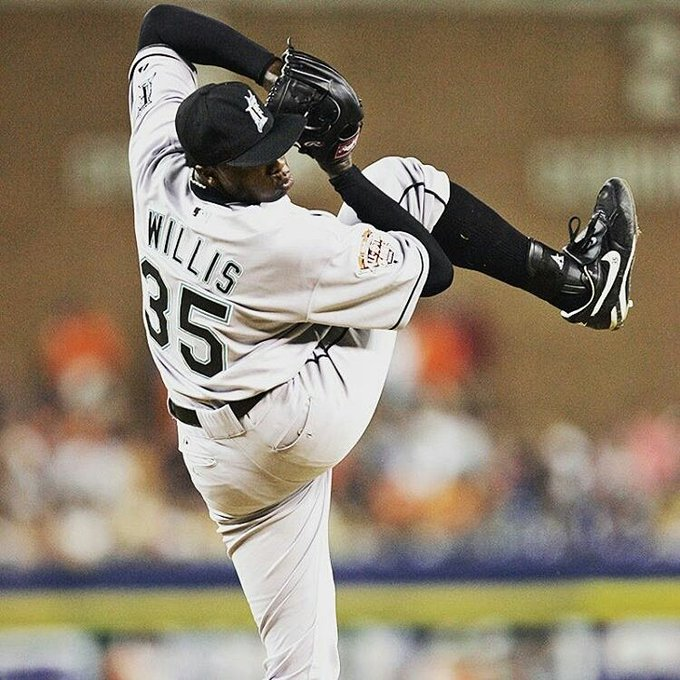 from -  That leg kick . Happy birthday to Dontrelle Willis!