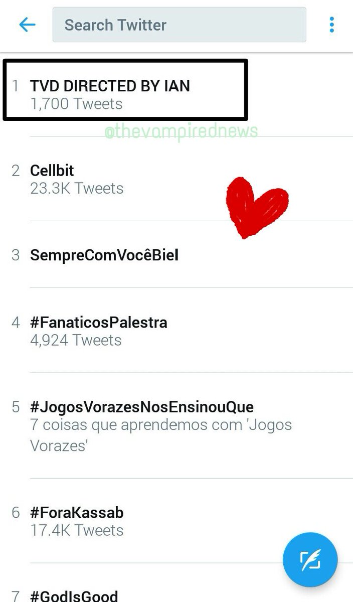 RT @thevampirednews: @iansomerhalder Yeah it is! And look what was trending #iandirectstvd #tvd https://t.co/tiT1AV50Gs