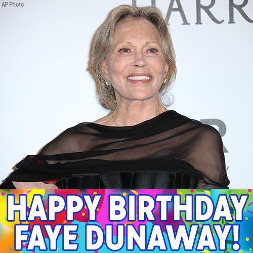 "Happy 76th birthday to ""Chinatown\"" and \""Network\"" star Faye Dunaway!"