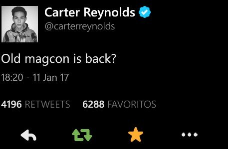 """RT @ShawnPreference: """"Old Magcon is back"""". Mi reacción https://t.co/g3MVjBBGWe"""