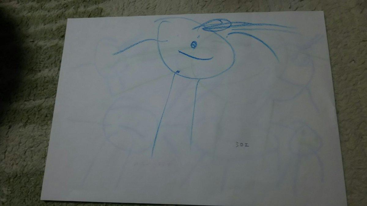 ひとりお絵描きしてた娘が「ママ見て!ママの好きなシロエさんと直継だよ!」と見せてくれた…oh… #loghorizon