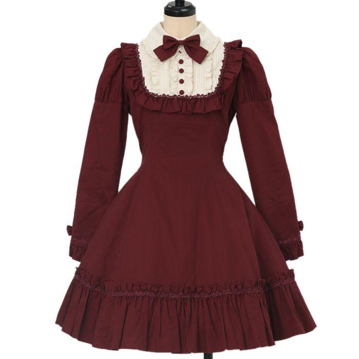 人気の高いクラシカルロリィタ✨ボルドーやブラウンなどシックな色合いの、アンティークなお洋服がたくさんです💕ローゼンメイデ