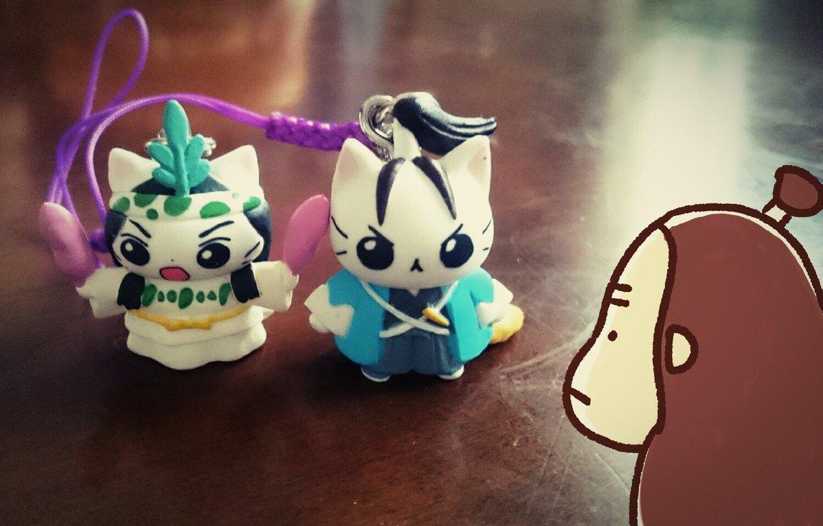 この2匹でした!サル欲しかったなぁ#ねこねこ日本史