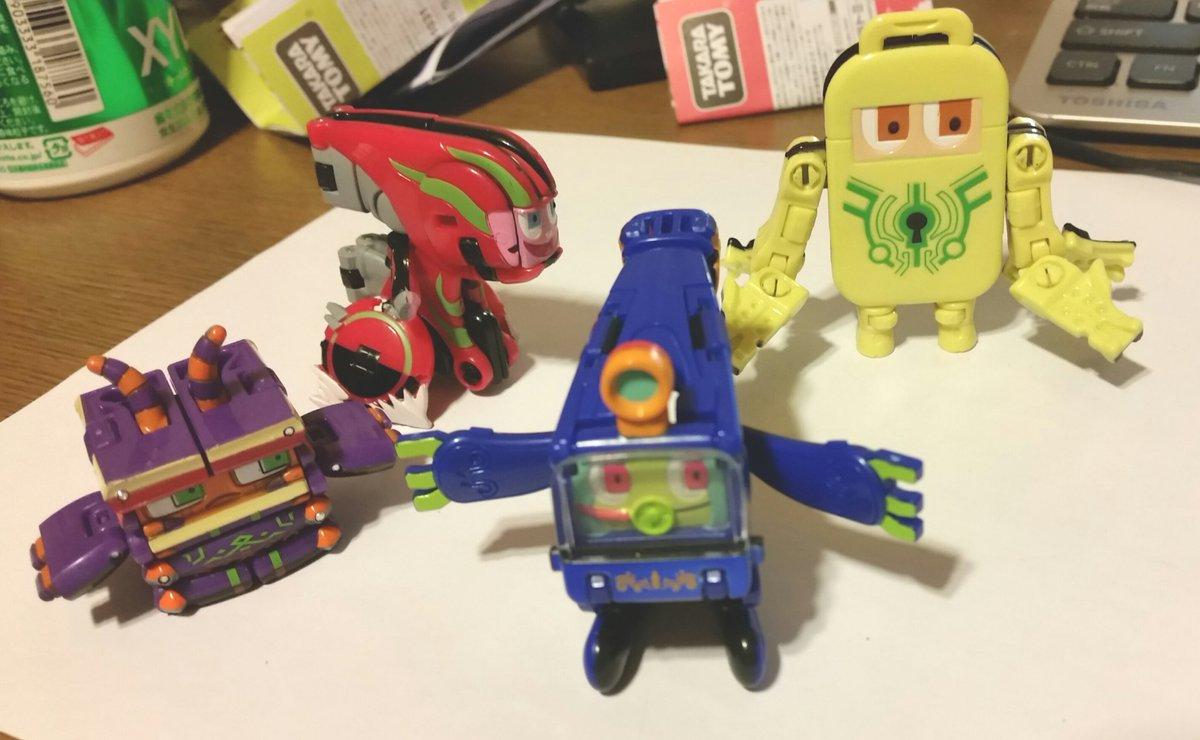 買って詰んでいた玩具を開けましたカミワザワンダに登場するプロミンたちの変形おもちゃ「オリガワル」シリーズです