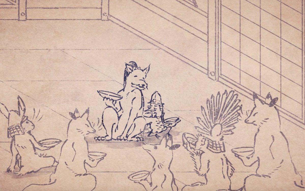 【「戦国鳥獣戯画〜乙〜」本日放送!】本日、第ニ期「戦国鳥獣戯画〜乙〜」がスタートいたします!第一話「鶴の汁」は前田利家推