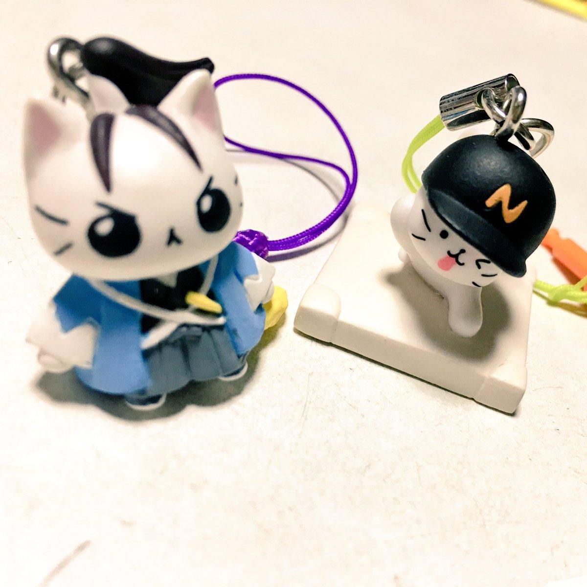 沖田にゃんとみーたろうちゃわゆいねこねこ日本史は根付😠猫ピッチャーはイヤホンジャックだよ😜