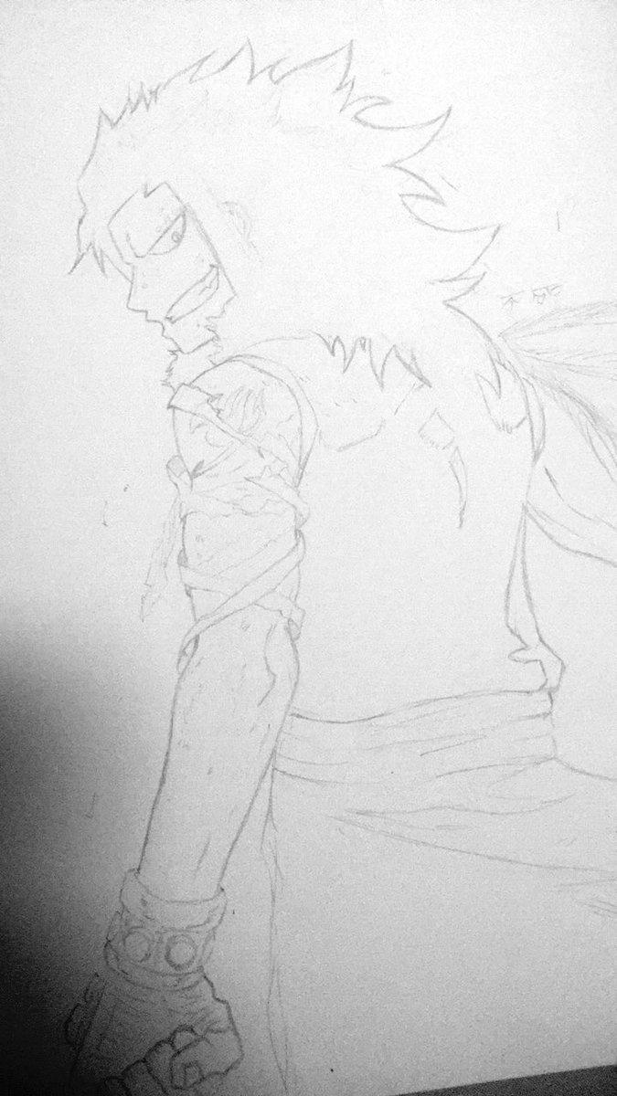 九ガジル・レッドフォックスgajeel redfox - dragon slayer🐉⚙️🖤 #kuroXkuru #f
