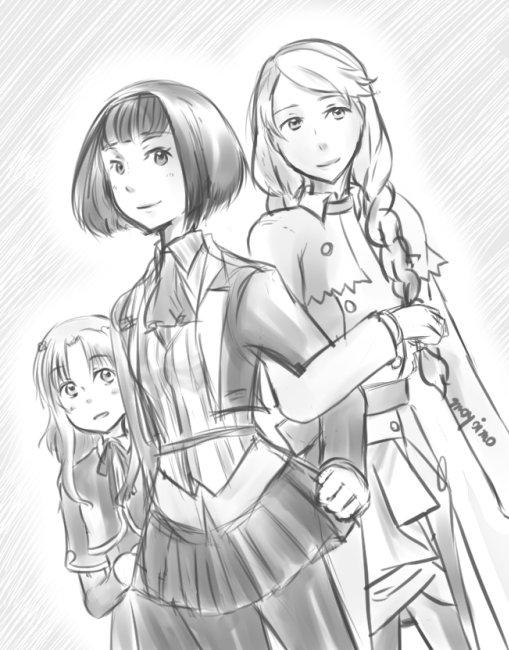 久しぶりにガリレイドンナを見ながら、3姉妹