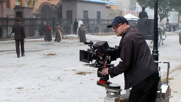 Happy birthday Steven Soderbergh. On the set of The Knick.