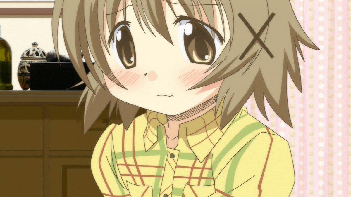 この表情えっちだよね #hidamari #anime_hidamari #tokyomx #bs11