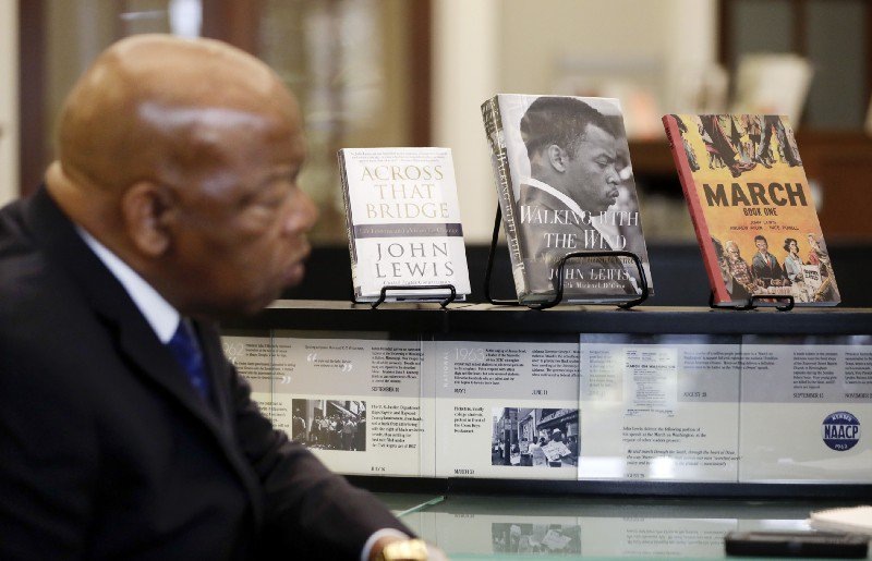 Amazon sells out of John Lewis' biography after Trump's tweets https://t.co/DlwvzAGW23 https://t.co/hLXH6olDkj