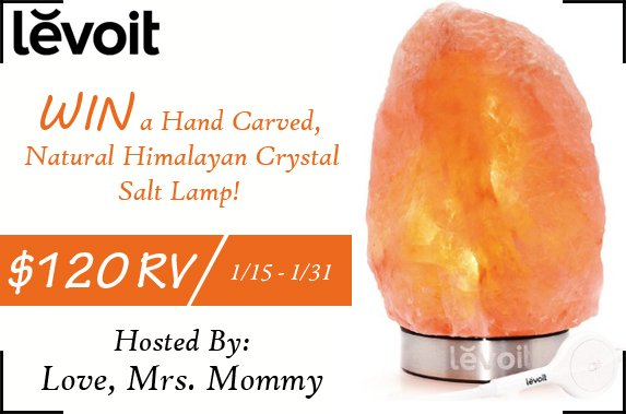 Levoit Hand Carved Natural Himalayan Crystal Salt Lamp Giveaway! $120 RV!