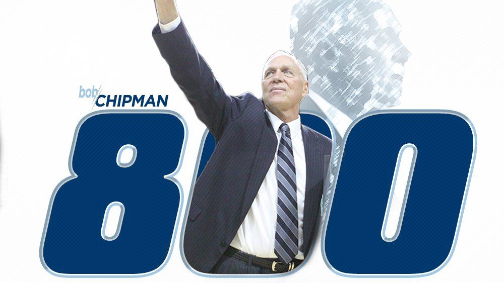 Chipman becomes the 17th coach in NCAA men's basketball history to reach 800 #GoBods https://t.co/GyyLNt6rQf