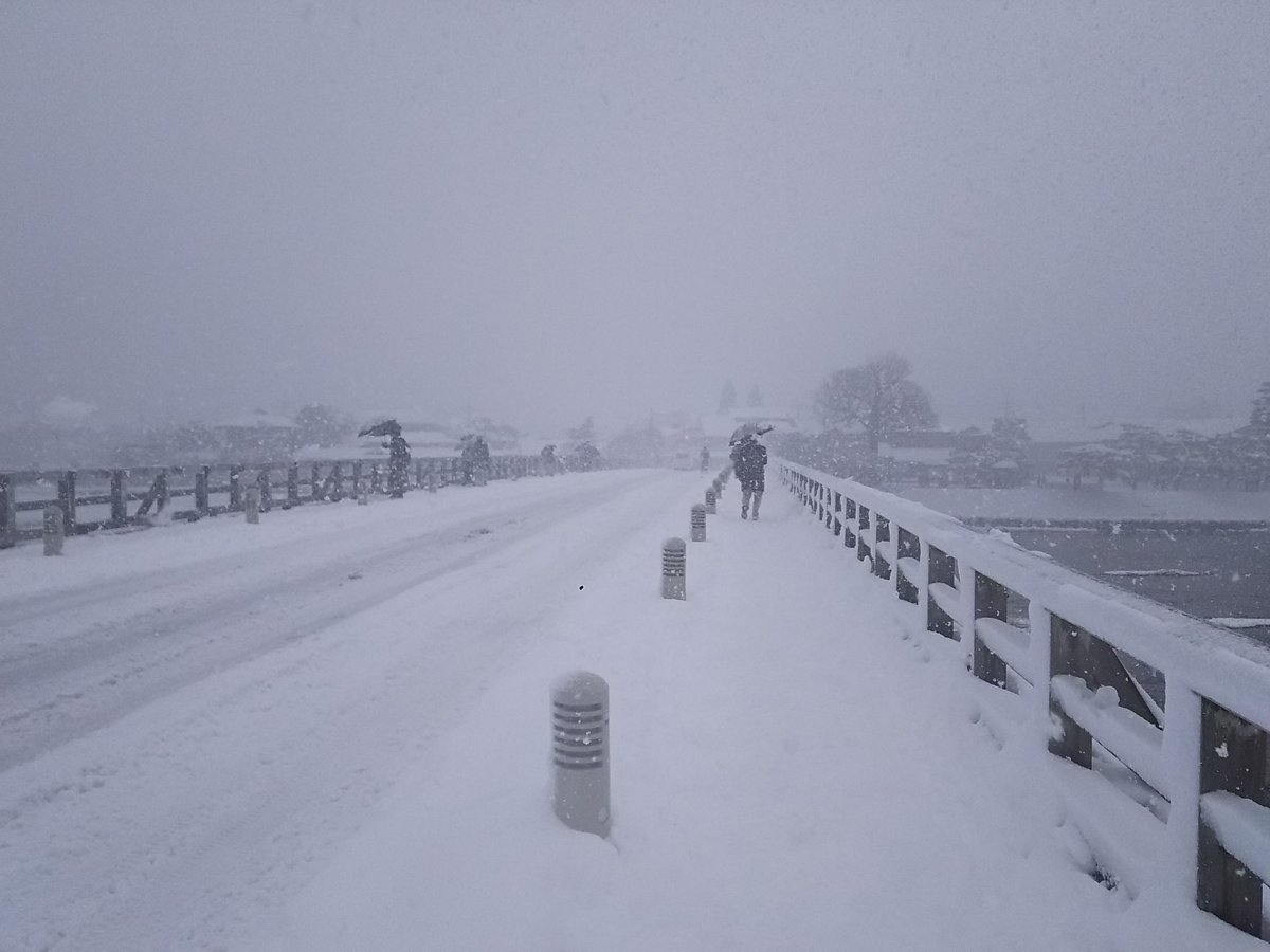 えー、現在の京都嵐山・渡月橋の様子です!! 何も!! 見えない!! https://t.co/ictW9E4qyG